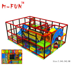 Indoor plastic playground equipment