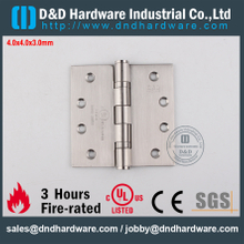 DDSS001-4x4x3.0mm-Stainless Steel 304 R38013 UL Fire Rated Ball Bearing Hinge for Metal Door