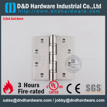 DDSS002-5x4.5x4.6mm-SSS304 Durable UL Fire Rated 4 Ball Bearing Hinge for Wood Door