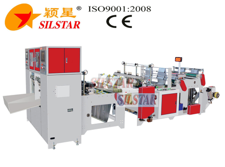 GBDR-300*2 Automatic rolling bag making machine with paper core