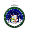 Led Christmas Ball Snowing Wall Clock-Shaped Wall Clock Decor