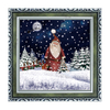 (WP038ST4-GSG) Snowing Wood Wall Plaque with Picture Frame for Grandparents