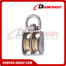 Pulley Double Sheave Swivel Eye