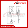 Non-sparking Chain Block / Explosion-proof Chain Hoist for Lowering Heavy Loads