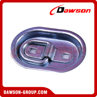 High Quality Steel Zinc Plated Surface Deck Ring Tie Down Lashing Anchor Point, Surface Mounting D Ring