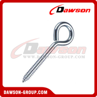 Eye Bolt With Lag Screw Zinc Plated