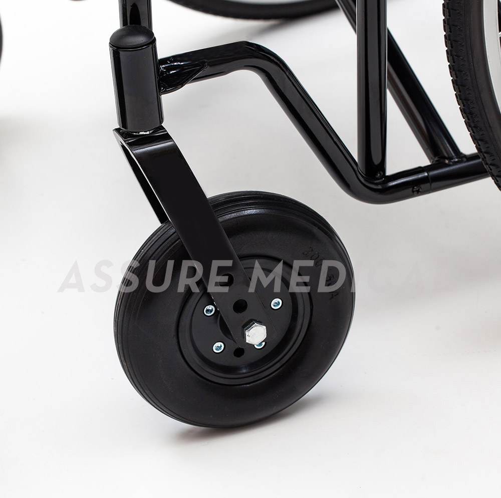 YJ-010Q Heavy-Duty Wheelchair, Spoke wheel with drum brake