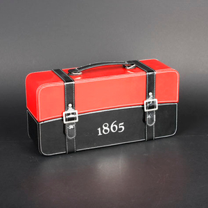 Wine Box Manufacturer leather pu cases for wine bottles
