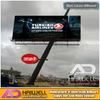 Outdoor Slant Shape Billboard Flex Banner Construction for Sale