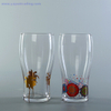 17oz clear beer glass cup souvenirs Promotion Decal Logo beer Glass