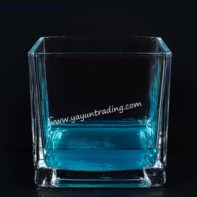2200ml Large Clear Square Glass Candle Holder
