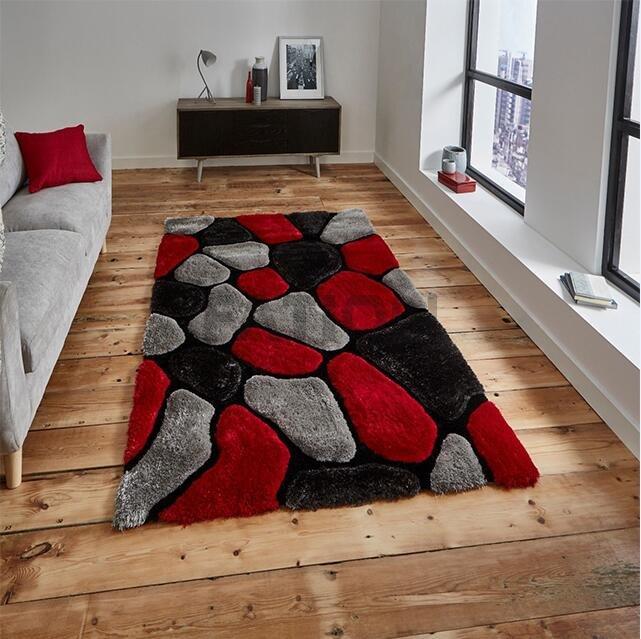 230 Cm Red Grey Rugs Bedroom