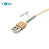 USB Metal Spring Lightning Cable for iPhone