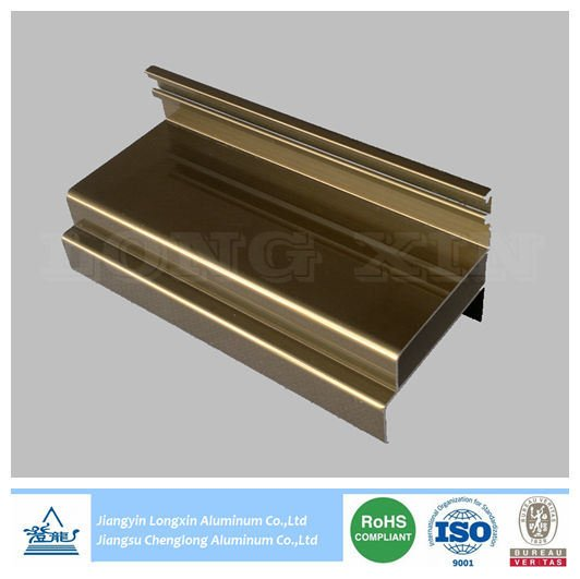 Brown Anodized Aluminum Extrusion Profile for Windows