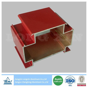 Red Powder Coated Aluminum Extrusion for Decoration