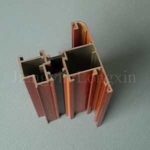 Wooden Print Aluminium Profile for Thermal Break Casement Windows