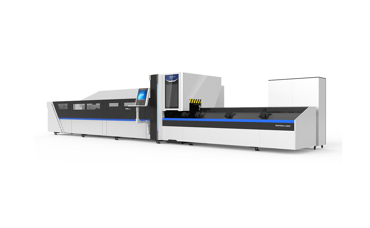 Automatic metal tubes fiber laser cutting machine1