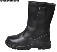 Groundwork bufflao leather PU sole high cut safety boots