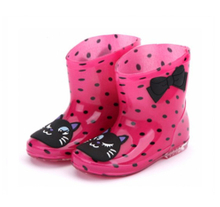 666-2 anti slip children pvc rain boots