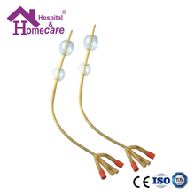 HK07a Latex Foley Catheter Silicone Coated 4-Way Double Balloon Latex Foley Catheter