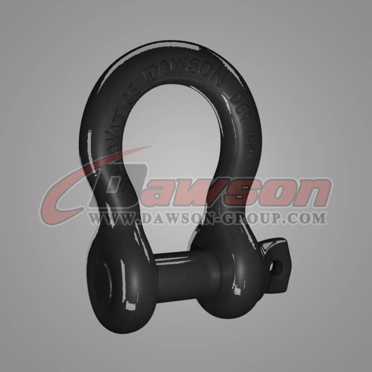 US Type Bow Shackle with PU Protection for Towing and Recovery Strap, Drop Forged Anchor Shackle - China Supplier, Factory