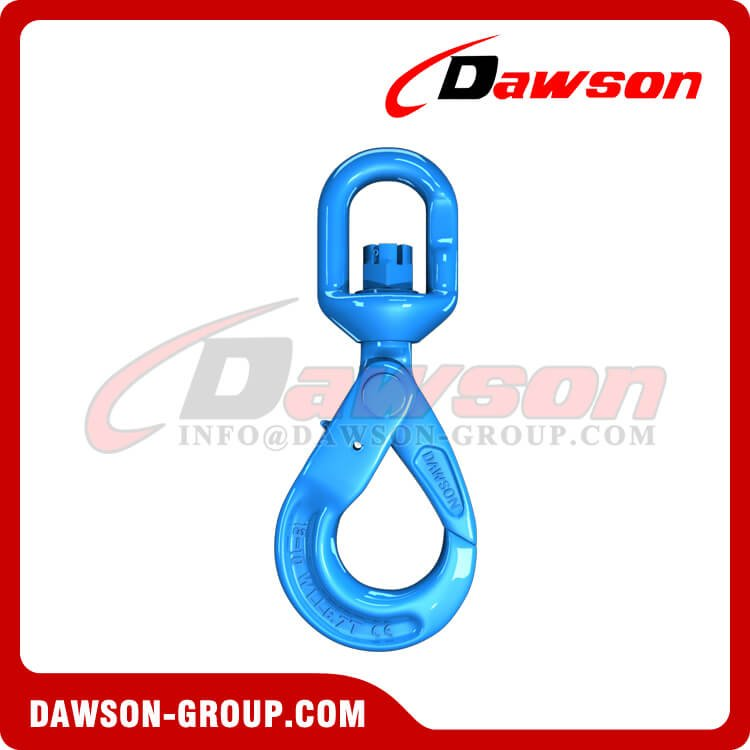 DS1007 G100 European Type Swivel Self-Locking Hook for Crane Lifting Chain Slings