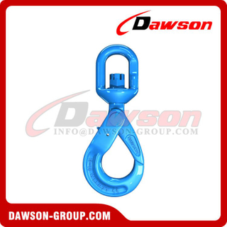 G100 / Grade 100 European Type Swivel Self-Locking Hook for Crane Lifting Chain Slings