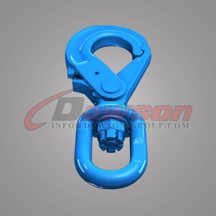 Dawson Grade 100 Special Swivel Self-locking Hook with Grip Latch for Chain Slings - China Factory
