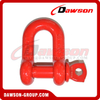DS759 G8 Screw Type Alloy Dee Shackle, Chain Shackle with Screw Pin for Lifting