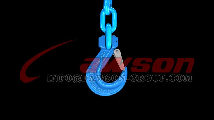 Application of G100 Forged Alloy Steel Clevis Sling Hook with Latch - Dawson Group Ltd. - China Factory