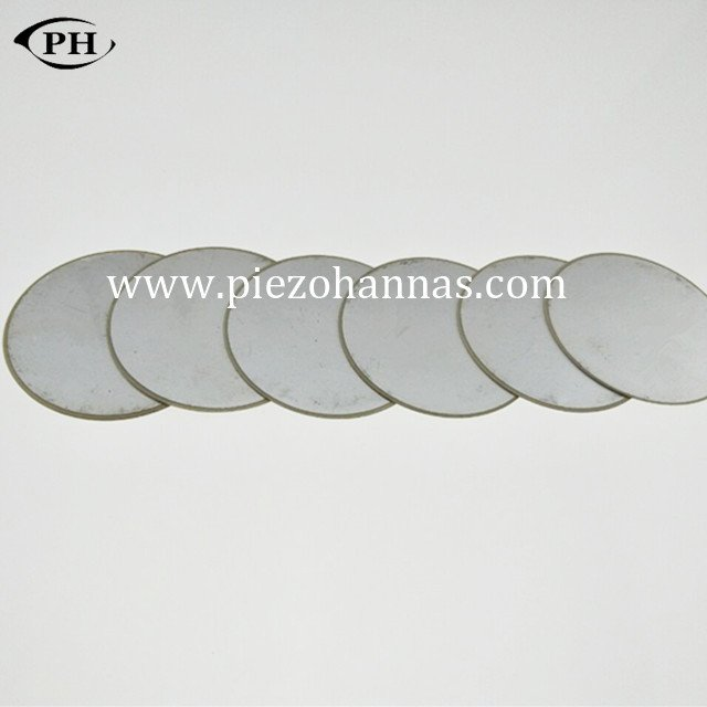 P5 material piezoelectric disc transducer for wall thickness sensor