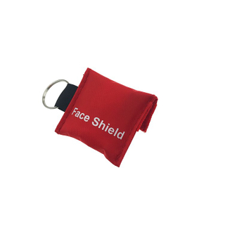 Emergency portable keychain ,cpr face shield, life key one way valve