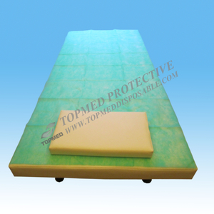 Disposable nonwoven PP/PP+PE/PE waterproof bed cover sheet for hospital exam bed/stretcher