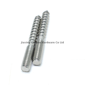 Stainless steel Double Head Threaded Hanger Screw