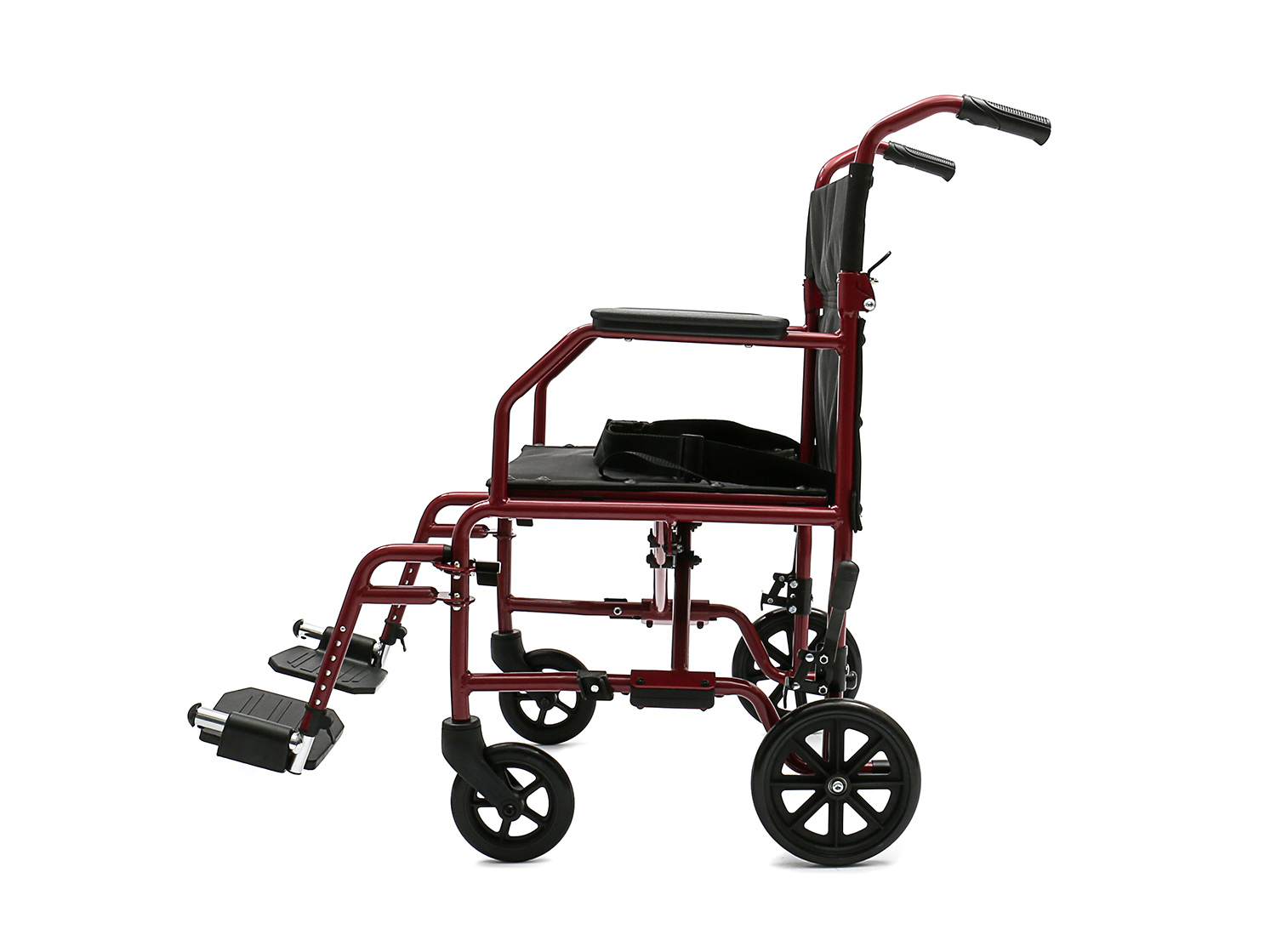 YJ-BL09 Steel Transport Wheelchair with attendant brake