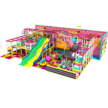 Candy Themed Kids Amusement Adventure Play Structure with Ball Slide