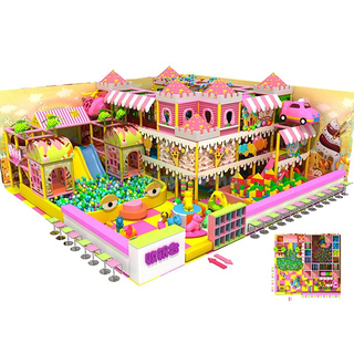 Candy Theme Amusement Indoor Playground with Building Block