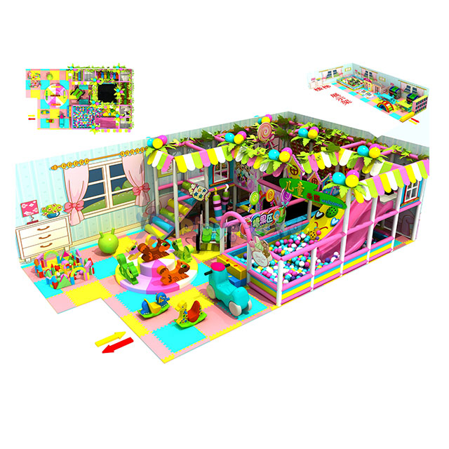 Customized Small Kid's Zone Indoor Soft Playground Equipment