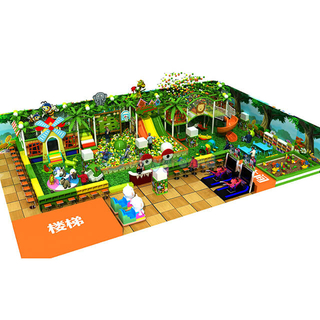 Jungle Theme Entertainment Equipment Kids Indoor Playground
