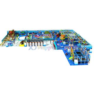 Ocean Theme Children Play Structure Custom Soft Indoor Playground