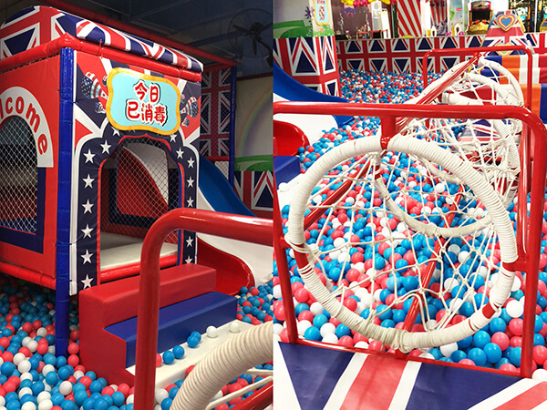 England theme indoor playground equipment