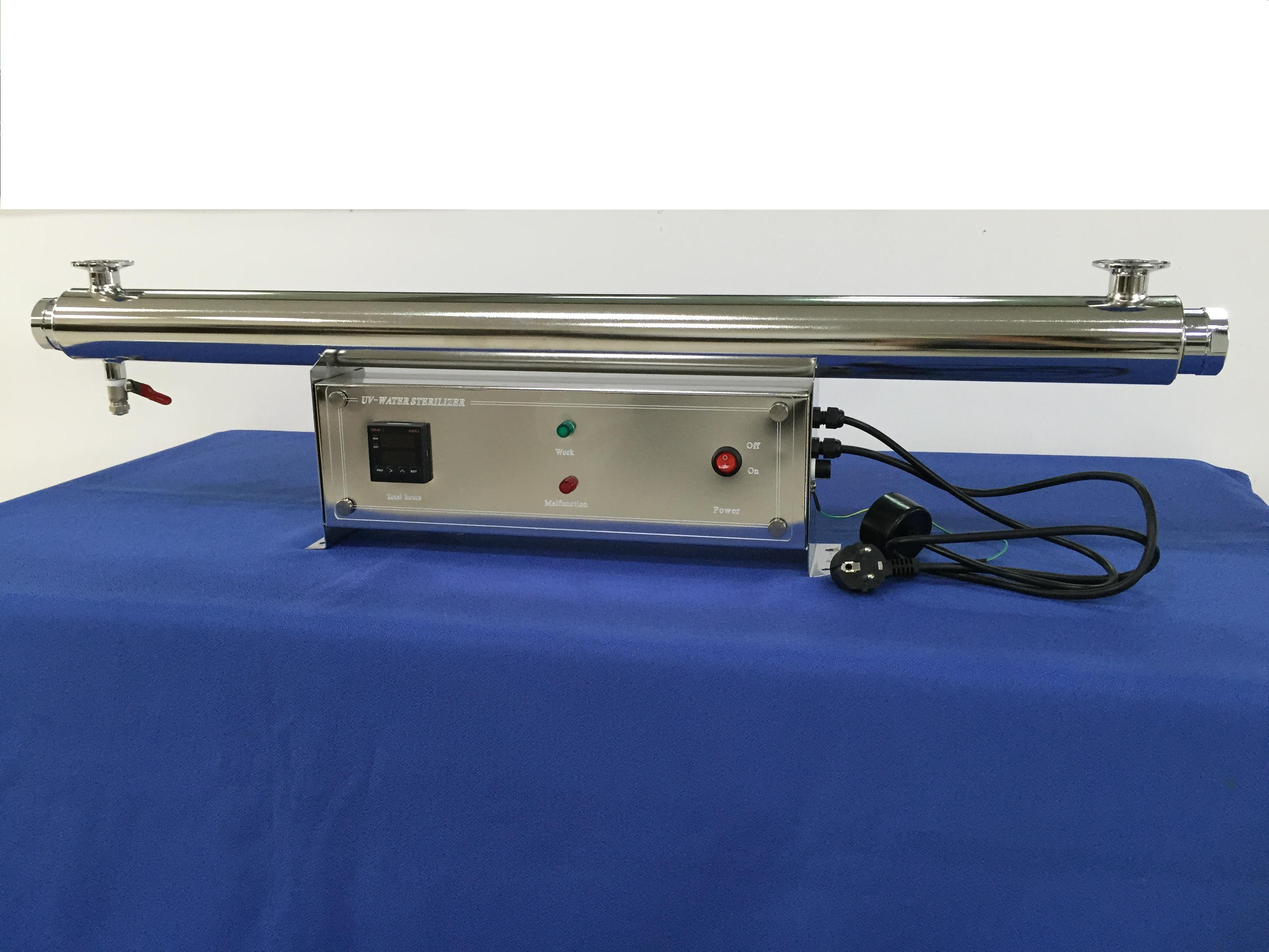 New Designed 8GPM Stainless Steel 30W-T UV Sterilizer for Water with electronic control cabinet