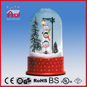 (P23036-3S1) Colorful Snowmen Family Christmas Gift with Round Top Case