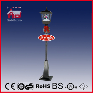 (LV180-3S2-HH) Black LED Street Light for Christmas Decoration with Snowmen Family