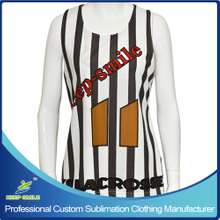 Custom Made Sublimation Girl's Lacrosse Race Back Reversible Jersey