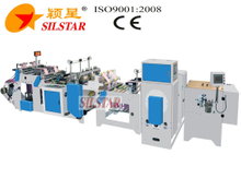 GBDSA-200*2star seal garbage bag maker with paper labeling machine