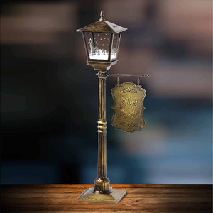 Mini Table Lamp Snowing Christmas Decoration Lamp