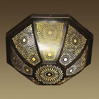 Good quality brass glass ceiling lighting (6032A )