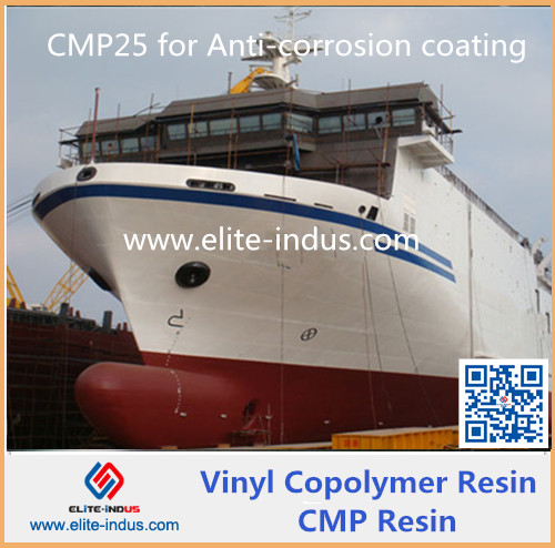 Copolymer of vinyl chloride and vinyl isobutyl ether CMP resin