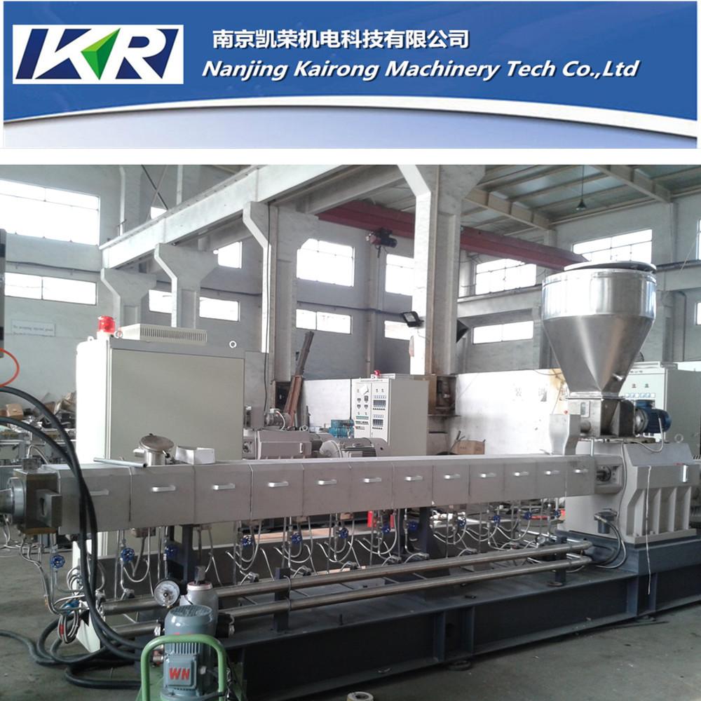 Tse 65 masterbatch extruder machine for filler and color for Impianto produzione pellet usato
